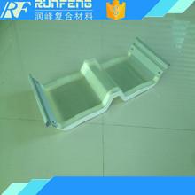 Fiberglass roof with aluminum edged skylight roof sheet