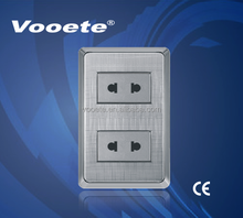 American style wall switch double socket