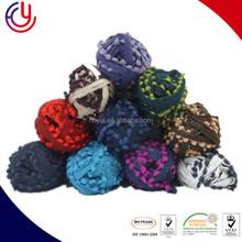 Hoyia 90% Micro Fiber 10% Metallic Lurex in superbulky pompom yarn and Roving yarn