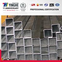 q235 q195 galvanized square steel pipe factory in Tianjin