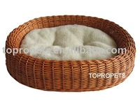 Wicker pet basket /dog bed