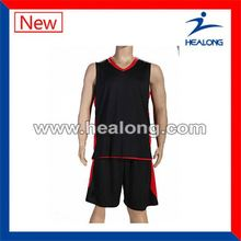 Healong 3D Sublimation Transfer Youth Basketball Jersey With Free Design