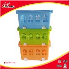 2015 colorful plastic picnic basket for houseware storage basket