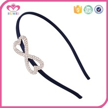 Women plain china wholesale crystal headbands