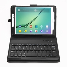 2 in 1 Bluetooth Keyboard Leather Case for Samsung Galaxy Tab S2