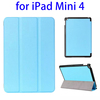 Fast Delivery 3 Folding Flip Leather Protective Case for iPad Mini 4