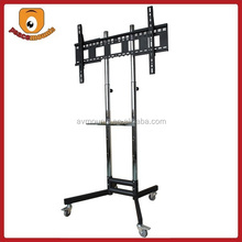 ST1800 Silver movealbe High Quality Factory Selling Trolley tv stand with DVD Tray and four Wheels