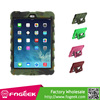 Kickstand Scratches Resistant for iPad Mini 1/2 Tyre Texture Detachable Silicone & PC Hybrid Case