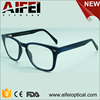 Stylish CP injection wooden brushed european style eyeglasses frames