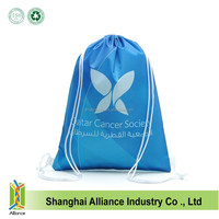 2015 new fashion nylon GYM backpack bag with draw string
