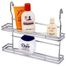 Hot sales chrome metal wire kitchen & bathroom hanging rack,bathroom hanging wire rack