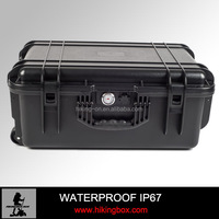 Ningbo HIKING-ON.Cheap Hard plastic trolley case / Durable equipment camera case with foam insert 600*425*255mm