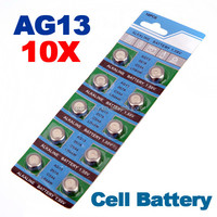 Wholesale Price New Hot Sale 10pc/lot 1.5V AG13 LR44 A76 L1154 RW82 303 357 SR44 Alkaline Cell Button Battery