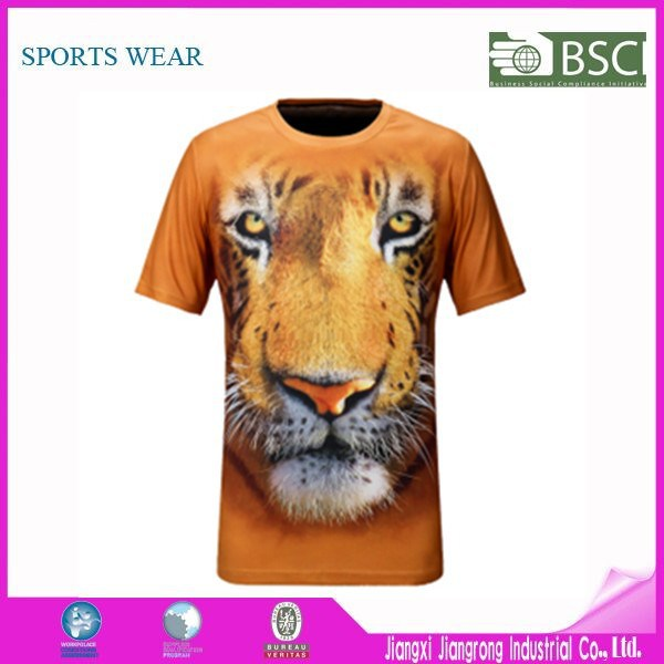 wholesale animal printed 3d t shirt 3d t shirt 3d printing