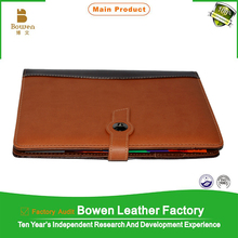 leather personal organizer notepad with pen and calculator