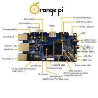 Orange pi Beyond cubieboard and pcduino ,Compatible with banana pi pro and Raspberry Pi 2