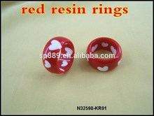 Fashion custom epoxy resin for jewelry plastic rings for women in high quality
