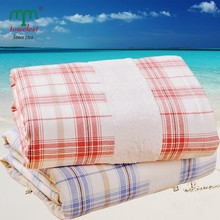 Breathable and Absorbent Gauze And Terry Patchwork 100% Cotton Beach Towel