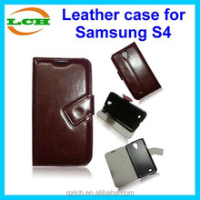 Luxury unbreakable leather flip case for samsung galaxy S4