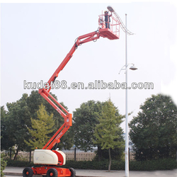 Kudat new 14m aerial work platform self propelled articulated boom lift, motorcycle lift made in china