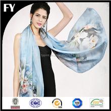 long size cheap custom digital printed custom scarf
