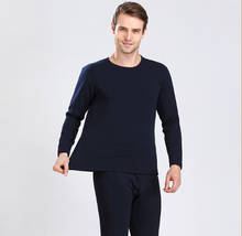 Wholesale alibaba anti-bacterial seamless long johns and thermal underwear for men with berber fleece