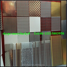 Decorative perforated mesh wall panels/decorative curtain wall perforated mesh