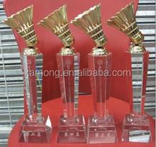 hign quanlity crystal trophy badminton
