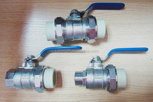 double union brass ball valve for ppr piping