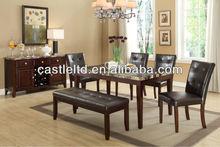 5 unid veteado superior conjunto de mesa de comedor, comedor de imitación de mármol mesa / mesa de comedor de lujo y sillas y aparadores / mesa de café