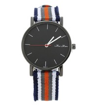 new design black face fabric strap watch simple high quality multicolor Geneva Men Watches popular sport men watch 2015