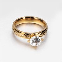 Yiwu Aceon stainless steel gold diamond wedding jewelry import export australia ring