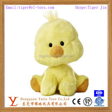 cute baby toy plush yellow chicken toy for wholesale