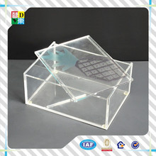 2015 high quality acrylic tray with insert for sale /acrylic tray with cover/fast food serving trays with lid