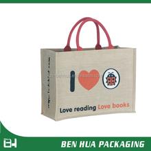 Silk Screen Printing Jute Promotional Shopping Bag