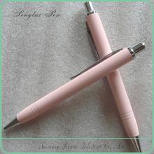 Newset advertising promotional click action cheap balpoint pen /pink metal pen