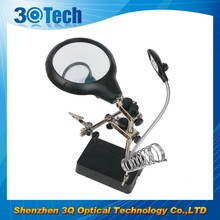 DH-86010 High quality desktop magnifying glass, tweezer magnifier with led light