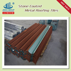 Nigeria Villadom roof materials 0.4mm Alu-Zinc plate stone chip coated metal steel roofing tile