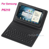 """Wireless Bluetooth Keyboard + Leather Case Stand for Samsung Galaxy Tab 7"""" GT-P6210,"""