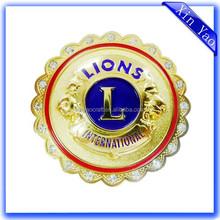 Wholesale International Lion Club High Quality Bling Custom Logo Enamel Trading Pin