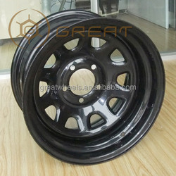 Off-road car wheels, steel and alloy 4x4 wheel rim with high strength