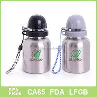 2015 High quality small size stainless steel baby feeding bottle