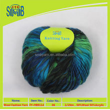 high quality fancy wool blended chunky yarn for knitting made in China hand knit slub yarn