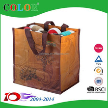 Laminated PP woven wine bag for promotion