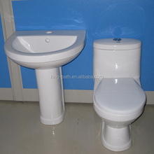 small toilet and basin , sanitaryware manual type toilet , white single bathroom bowl