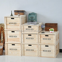 Eco-friendly natural wood case for home sundries