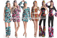 Hot walson China instyles 2015 disfraz clothes cheap carnival Ladies Costume Womens 60s 70s happie gogo girl costumeerotic l