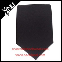 Men Solid Color Silk Woven Black Tie