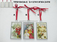 HIGH QUALITY DOUBLE PATTERN GLASS PLAQUE CHRISTMAS ORNAMENT NEW