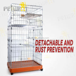 Convinient square tube modular cages for dogs